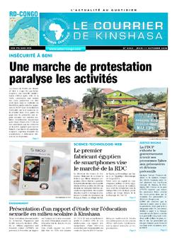 Les Dépêches de Brazzaville : Édition le courrier de kinshasa du 11 octobre 2018