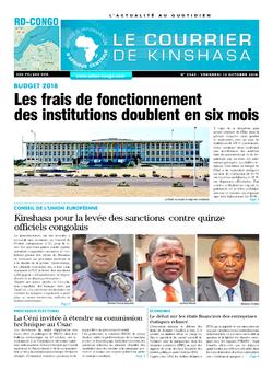 Les Dépêches de Brazzaville : Édition le courrier de kinshasa du 12 octobre 2018