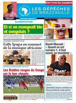 Les Dépêches de Brazzaville : Édition du 6e jour du 13 octobre 2018