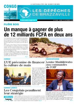 Les Dépêches de Brazzaville : Édition brazzaville du 15 octobre 2018