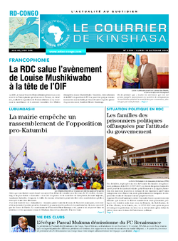 Les Dépêches de Brazzaville : Édition le courrier de kinshasa du 15 octobre 2018