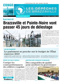 Les Dépêches de Brazzaville : Édition brazzaville du 16 octobre 2018