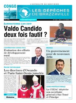 Les Dépêches de Brazzaville : Édition brazzaville du 18 octobre 2018
