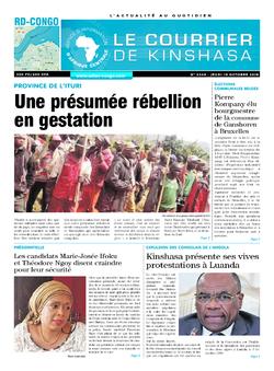 Les Dépêches de Brazzaville : Édition le courrier de kinshasa du 18 octobre 2018