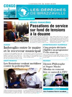 Les Dépêches de Brazzaville : Édition brazzaville du 19 octobre 2018