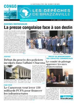 Les Dépêches de Brazzaville : Édition brazzaville du 26 octobre 2018