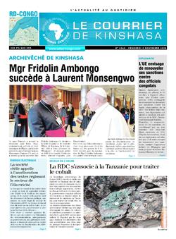 Les Dépêches de Brazzaville : Édition le courrier de kinshasa du 02 novembre 2018