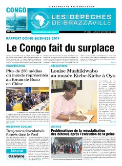 Les Dépêches de Brazzaville : Édition brazzaville du 05 novembre 2018