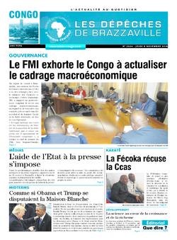Les Dépêches de Brazzaville : Édition brazzaville du 08 novembre 2018