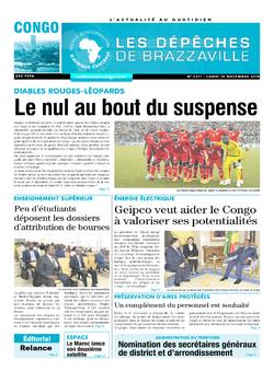 Les Dépêches de Brazzaville : Édition brazzaville du 19 novembre 2018