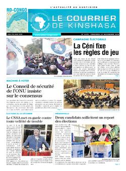 Les Dépêches de Brazzaville : Édition le courrier de kinshasa du 23 novembre 2018
