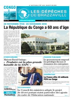 Les Dépêches de Brazzaville : Édition brazzaville du 27 novembre 2018