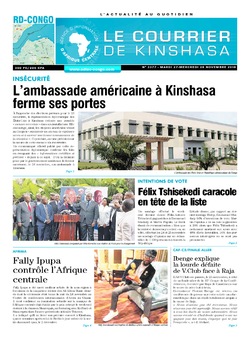 Les Dépêches de Brazzaville : Édition le courrier de kinshasa du 27 novembre 2018
