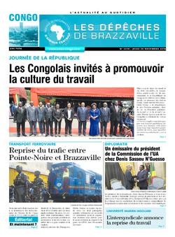Les Dépêches de Brazzaville : Édition brazzaville du 29 novembre 2018