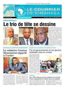 Les Dépêches de Brazzaville : Édition le courrier de kinshasa du 29 novembre 2018