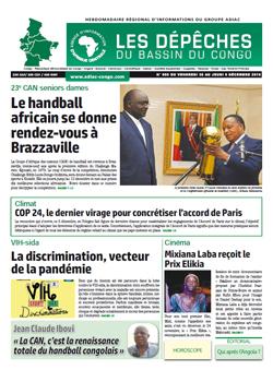 Les Dépêches de Brazzaville : Édition du 6e jour du 01 décembre 2018