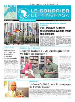 Les Dépêches de Brazzaville : Édition le courrier de kinshasa du 03 décembre 2018