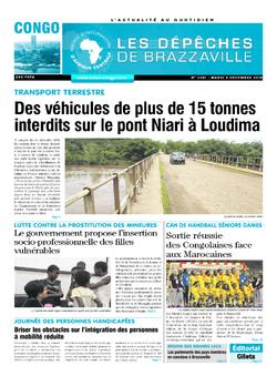 Les Dépêches de Brazzaville : Édition brazzaville du 04 décembre 2018