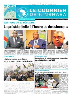 Les Dépêches de Brazzaville : Édition le courrier de kinshasa du 04 décembre 2018