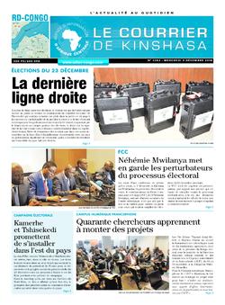 Les Dépêches de Brazzaville : Édition le courrier de kinshasa du 05 décembre 2018