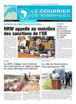 Les Dépêches de Brazzaville : Édition le courrier de kinshasa du 06 décembre 2018