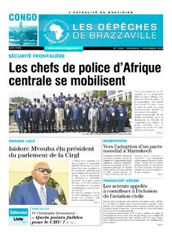 Les Dépêches de Brazzaville : Édition brazzaville du 07 décembre 2018