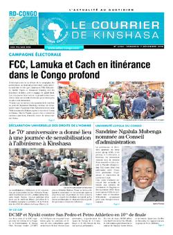 Les Dépêches de Brazzaville : Édition le courrier de kinshasa du 07 décembre 2018