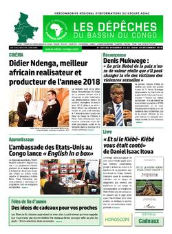 Les Dépêches de Brazzaville : Édition du 6e jour du 15 décembre 2018