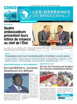 Les Dépêches de Brazzaville : Édition brazzaville du 17 décembre 2018
