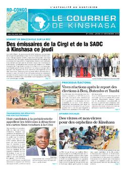 Les Dépêches de Brazzaville : Édition brazzaville du 27 décembre 2018