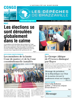 Les Dépêches de Brazzaville : Édition brazzaville du 31 décembre 2018