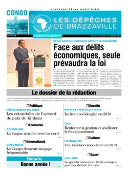 Les Dépêches de Brazzaville : Édition brazzaville du 03 janvier 2019