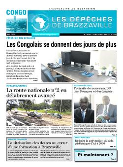 Les Dépêches de Brazzaville : Édition brazzaville du 04 janvier 2019