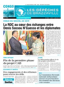 Les Dépêches de Brazzaville : Édition brazzaville du 07 janvier 2019