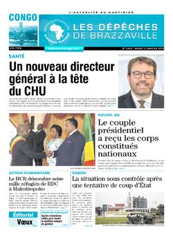 Les Dépêches de Brazzaville : Édition brazzaville du 08 janvier 2019