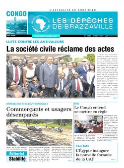 Les Dépêches de Brazzaville : Édition brazzaville du 09 janvier 2019