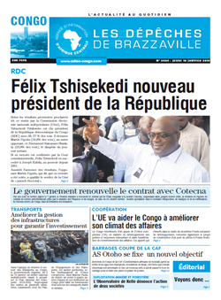 Les Dépêches de Brazzaville : Édition brazzaville du 10 janvier 2019