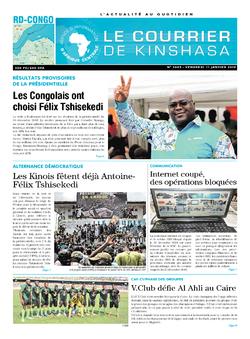 Les Dépêches de Brazzaville : Édition brazzaville du 11 janvier 2019