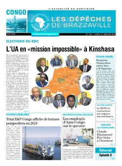 Les Dépêches de Brazzaville : Édition brazzaville du 21 janvier 2019