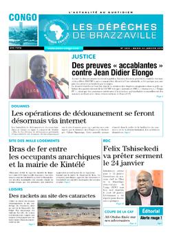 Les Dépêches de Brazzaville : Édition brazzaville du 22 janvier 2019