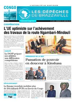 Les Dépêches de Brazzaville : Édition brazzaville du 25 janvier 2019