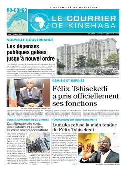 Les Dépêches de Brazzaville : Édition brazzaville du 28 janvier 2019