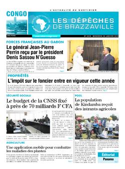 Les Dépêches de Brazzaville : Édition brazzaville du 30 janvier 2019