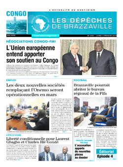 Les Dépêches de Brazzaville : Édition brazzaville du 04 février 2019