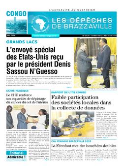 Les Dépêches de Brazzaville : Édition brazzaville du 22 février 2019