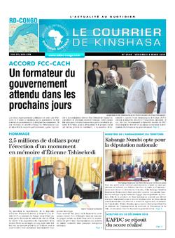 Les Dépêches de Brazzaville : Édition brazzaville du 08 mars 2019