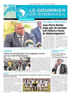 Les Dépêches de Brazzaville : Édition brazzaville du 12 mars 2019