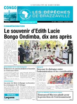 Les Dépêches de Brazzaville : Édition brazzaville du 17 mars 2019