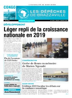 Les Dépêches de Brazzaville : Édition brazzaville du 19 mars 2019