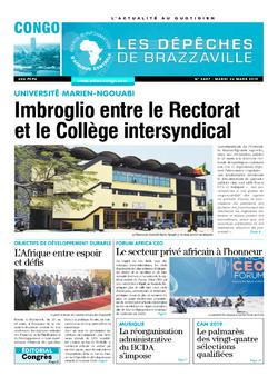 Les Dépêches de Brazzaville : Édition brazzaville du 26 mars 2019